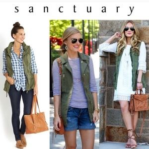 Sanctuary green military versatile vest